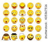 emoticons set. vector... | Shutterstock .eps vector #435367516