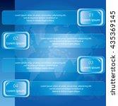 four step banner diagram ... | Shutterstock .eps vector #435369145