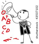 cartoon doodle businessman... | Shutterstock .eps vector #43537102