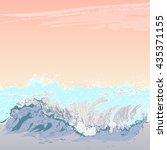 seascape at sunset. summer... | Shutterstock .eps vector #435371155