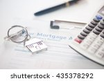 mortgage approved loan document ... | Shutterstock . vector #435378292