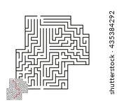 vector maze with answer 2 | Shutterstock .eps vector #435384292