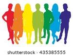 group of teenagers. vector...   Shutterstock .eps vector #435385555