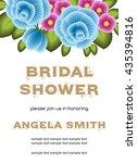 bridal shower invitation... | Shutterstock .eps vector #435394816