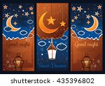 sweet dreams card. good night... | Shutterstock .eps vector #435396802