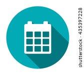 calendar icon isolated vector...