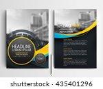 abstract vector modern flyers... | Shutterstock .eps vector #435401296