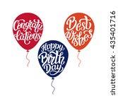happy birthday  congratulations ... | Shutterstock .eps vector #435401716