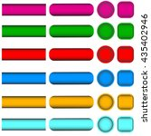 set of multicolored buttons... | Shutterstock .eps vector #435402946