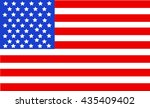 united state of america flag... | Shutterstock .eps vector #435409402