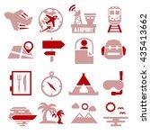 tourism  travel icon set | Shutterstock .eps vector #435413662