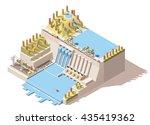 vector isometric infographic... | Shutterstock .eps vector #435419362