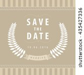 typographic save the date... | Shutterstock .eps vector #435427336