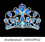 crown tiara  with glittering... | Shutterstock .eps vector #435429922