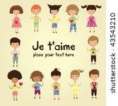 valentine kids | Shutterstock .eps vector #43543210