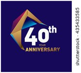 40th anniversary logo with gold ...   Shutterstock .eps vector #435433585