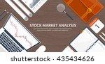 stock market analysis finance...   Shutterstock .eps vector #435434626