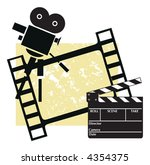 clapboard with a camera and... | Shutterstock .eps vector #4354375