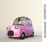 cute cartoon stylized car in a... | Shutterstock . vector #435438712