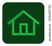 3d line neon home web icon ...