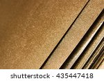 leaves of gold color  glitter ... | Shutterstock . vector #435447418
