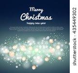 lights on blue background.... | Shutterstock .eps vector #435449302