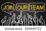 join our team.thumbs up on... | Shutterstock . vector #435449722
