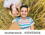 young caucasian couple taking...   Shutterstock . vector #435455656