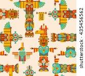 Multi Colored Totem Poles....