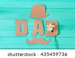 fathers day background with... | Shutterstock . vector #435459736