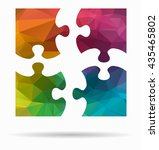 four pieces poly icon | Shutterstock .eps vector #435465802