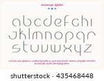 thin line  3d effect alphabet... | Shutterstock .eps vector #435468448