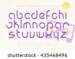 set of regular alphabet letters ... | Shutterstock .eps vector #435468496