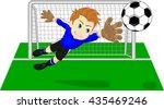 soccer football goalie keeper... | Shutterstock .eps vector #435469246