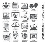 business management icons. pack ... | Shutterstock .eps vector #435478456