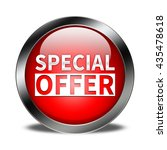 special offer button isolated | Shutterstock . vector #435478618