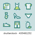 icons set of fashion clothes | Shutterstock .eps vector #435481252
