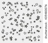 set of stars isoltaed on white... | Shutterstock .eps vector #435483076