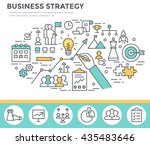 business strategy concept... | Shutterstock .eps vector #435483646