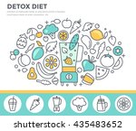 detox diet  vegetarian food... | Shutterstock .eps vector #435483652