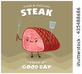 vintage steak poster design... | Shutterstock .eps vector #435488686