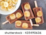 Chocolate Banana Popsicles In ...