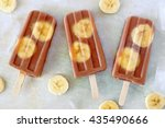 Chocolate Banana Popsicles Wit...
