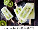 Bowl Of Kiwi Vanilla Yogurt...