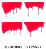 set of leaking jelly or jam on...   Shutterstock .eps vector #435493876