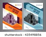 business brochure flyer design... | Shutterstock .eps vector #435498856