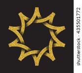 golden glittering logo symbol... | Shutterstock .eps vector #435501772