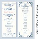 wedding program template.... | Shutterstock .eps vector #435506362