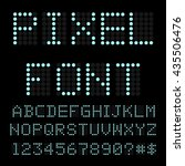 retro computer font. circle... | Shutterstock .eps vector #435506476