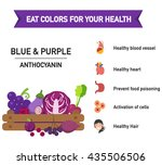 eat colors for your health blue ... | Shutterstock .eps vector #435506506